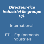 20. Directeur industriel groupe industrie