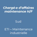 29. chargé d'affaires maintenance industrie